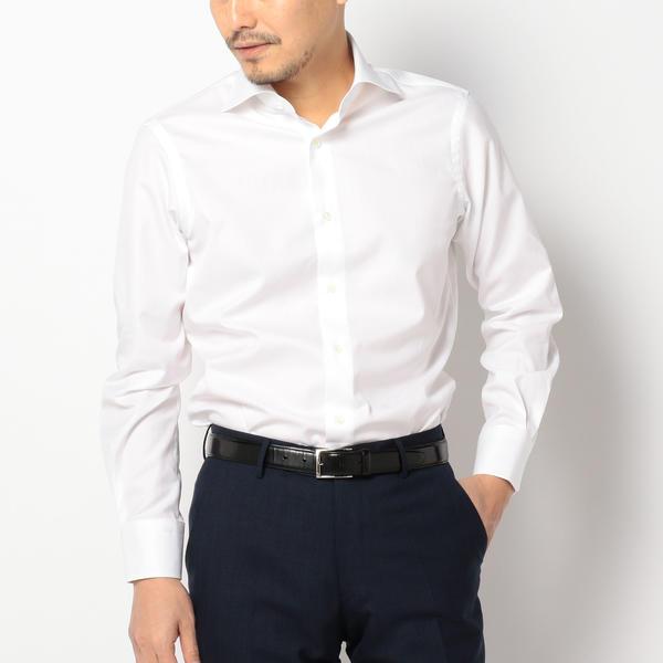 SD: ALBINI社製生地 ツイル ソリッド ワイドカラーシャツ(ホワイト)/シップス(メンズ)(SHIPS)