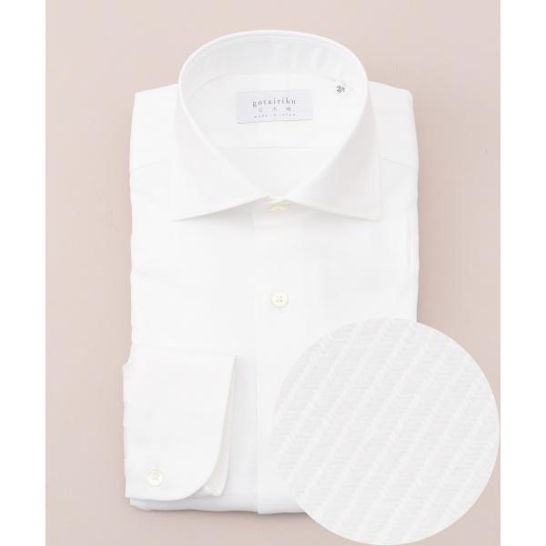 【日本製】【ワイドカラー】 SLOWVINTAGE ドレスシャツ ツイル/五大陸(gotairiku)