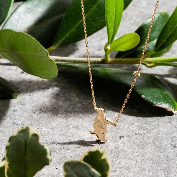 K10 イエローゴールド ダイヤモンド ペンギンモチーフ ネックレス/エステール(ESTELLE)