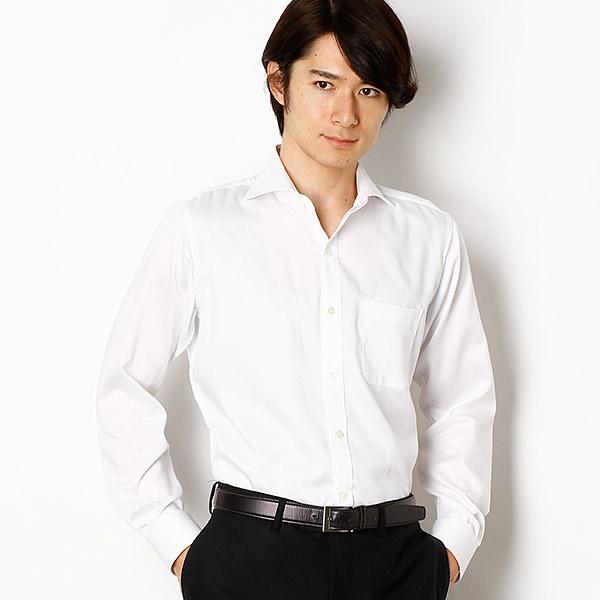 HITOYOSHI社EASY IRONヘリンボーンドレスシャツ/メンズメルローズ(MEN'S MELROSE)
