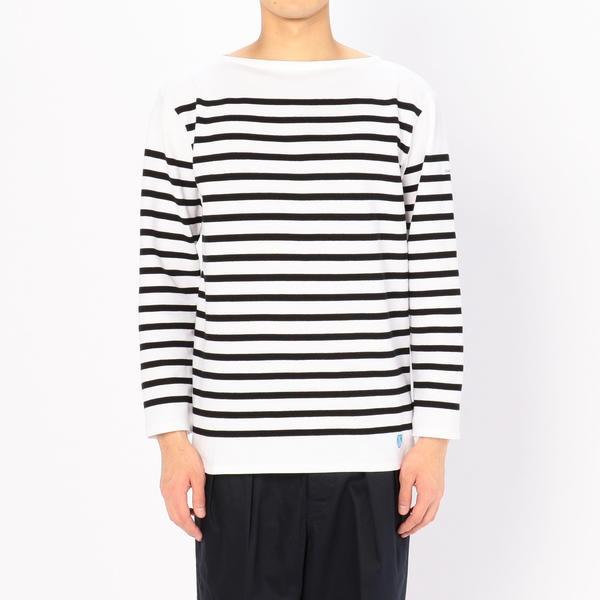 【ORCIVAL】ラッセル フレンチセーラーTシャツ BLACK MEN/ビショップ(メンズ)(Bshop)