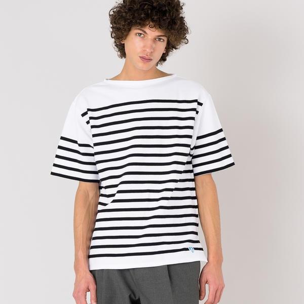 【ORCIVAL】ラッセル フレンチセーラー半袖Tシャツ BLACK MEN/ビショップ(メンズ)(Bshop)