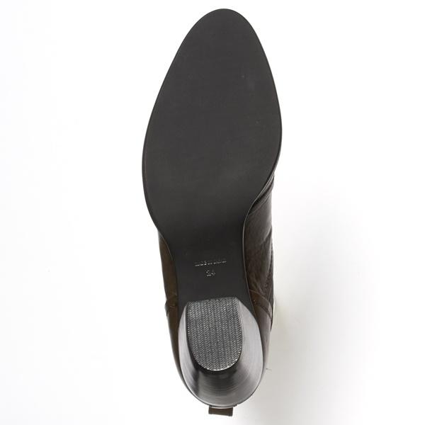 トップラインのVカットで脚をキレイ見せ カジュアルサイドゴアブーツ ワークス workskXuOPiZ