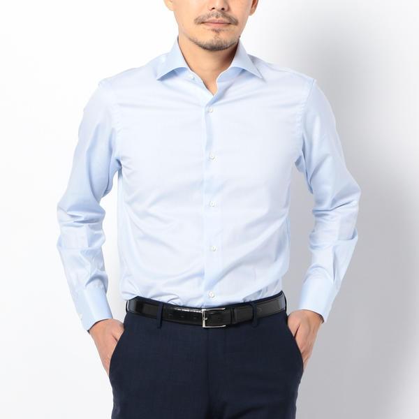 SD:【ALBINI社製生地】ファインフィット ツイル ワイドカラー シャツ/シップス(メンズ)(SHIPS)