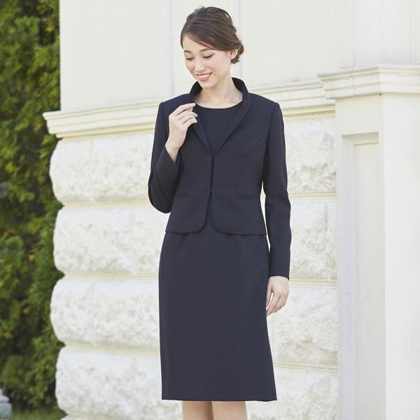【お受験スーツ】国内産高品質ウール100%純日本製フリルスタンドカラーお受験アンサンブル/入学式/卒/ソリテール(SORITEAL)