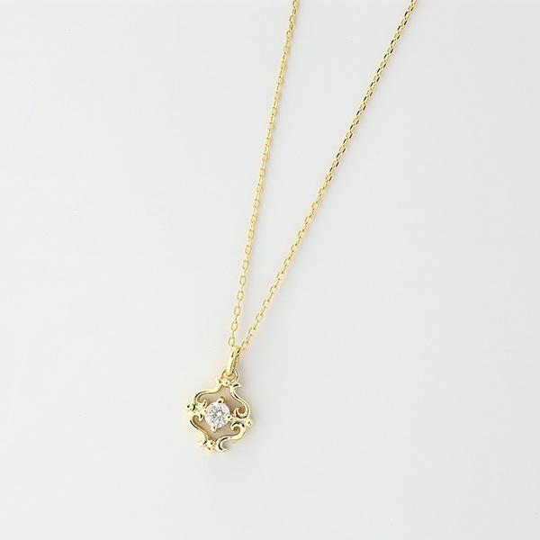 ダイヤモンドネックレス[K10YG/0.05ctup]/東京ジュエリーインデックス(TOKYO JEWELRY INDEX)