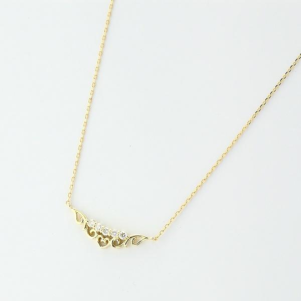 ティアラモチーフネックレス[K10YG/ダイヤモンド]/東京ジュエリーインデックス(TOKYO JEWELRY INDEX)