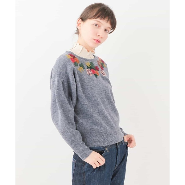 RAMOニードル 刺繍変型プルオーバー ホコモモラ JOCOMOMOLAwm0vNnO8