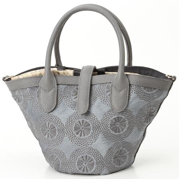 モロッコカゴバッグセットイタリア製ハラコタイプ刺繍トートバッグ小/ペルケ(perche')