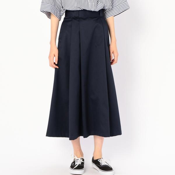 【DANTON】タックロングスカート WOMEN/ビショップ(レディース)(Bshop)