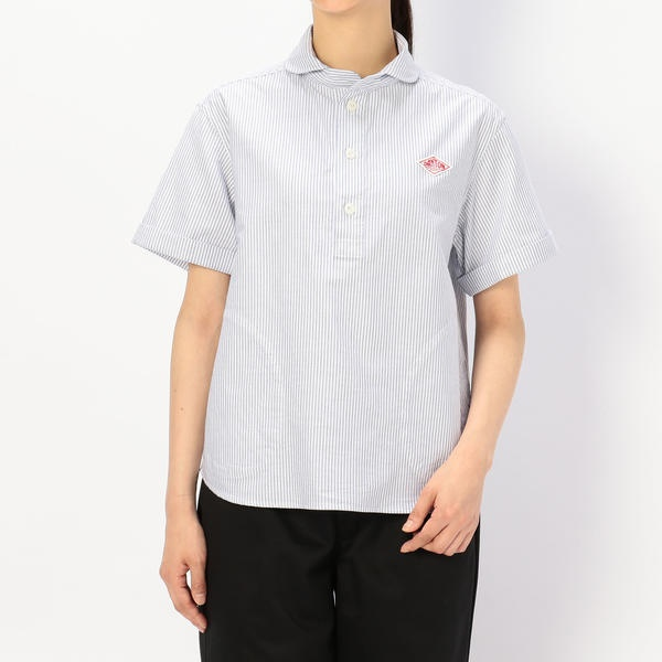 【DANTON】半袖プルオーバーワークシャツ TRD WOMEN/ビショップ(レディース)(Bshop)