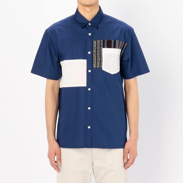■【COOHEM】ストライプツイード シャツ MEN/ビショップ(メンズ)(Bshop)