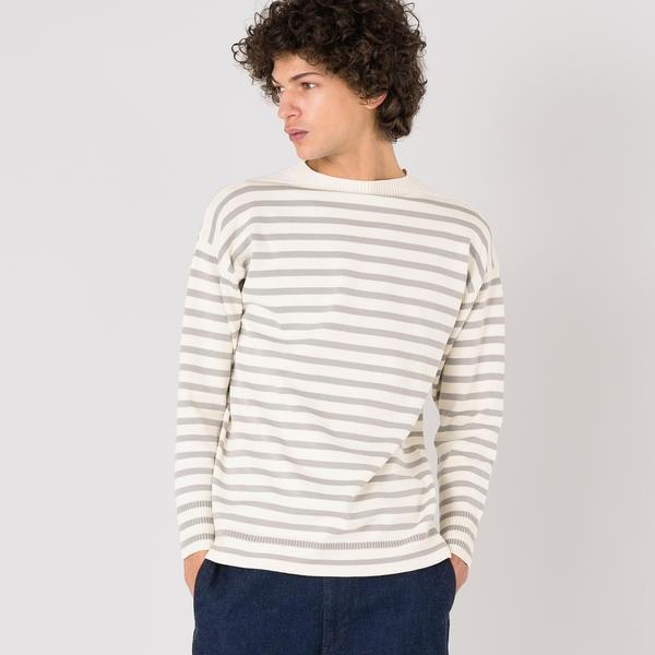 【Le Tricoteur】コットンガンジーセーター ST MEN/ビショップ(メンズ)(Bshop)