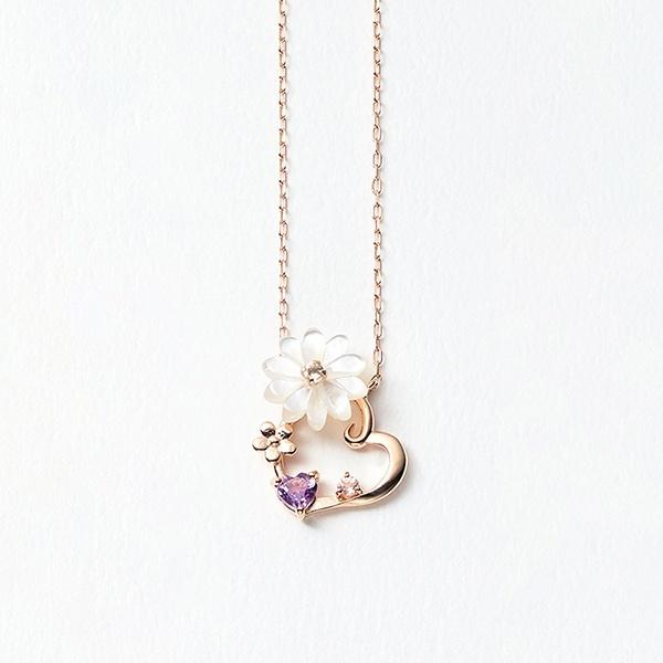 K10 ピンクゴールド マーガレット ネックレス/ブルーム(BLOOM)