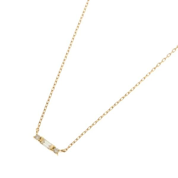 アクセ類(K18ダイヤモンド バゲットカット×サイドメレ ネックレス)/ココシュニック(COCOSHNIK)