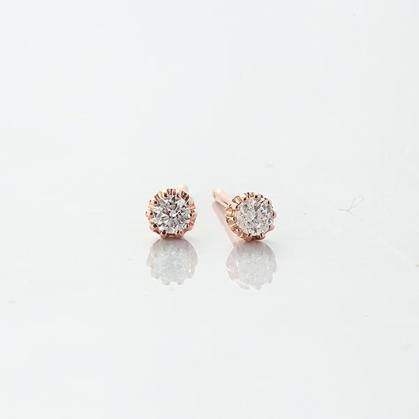 ダイヤモンドピアス[K18PG/0.10ctup]/東京ジュエリーインデックス(TOKYO JEWELRY INDEX)