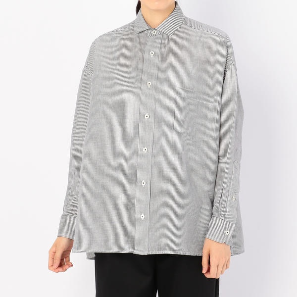 【TICCA】ストライプスクエアビッグシャツ WOMEN/ビショップ(レディース)(Bshop)
