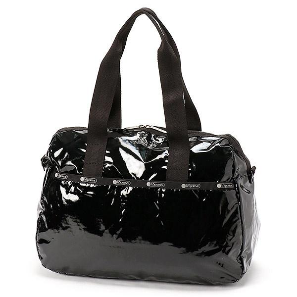 【日本限定】HARPER BAG/ブラックパテントシル/レスポートサック(LeSportsac)
