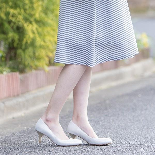 【新色追加】6.5cmヒールシルキーパンプス/037544/オン ブルー(On Bleue)(卑弥呼/himiko)