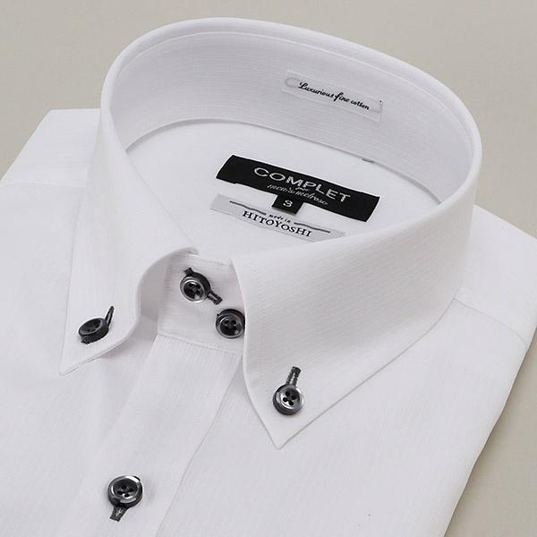 HITOYOSHI社EASY CAREホワイトドビーBDドレスシャツ/メンズメルローズ(MEN'S MELROSE)