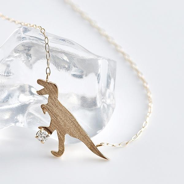 【WEB限定】 K10 イエローゴールド ダイヤモンド ティラノサウルス ネックレス/ブルーム(BLOOM)