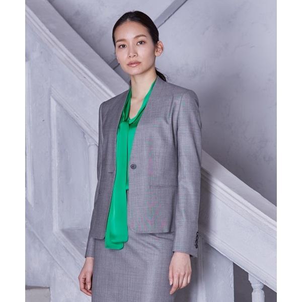 【2018SS】ハイテンションストレッチショート丈 ノーカラージャケット/カルバン・クライン ウィメン(Calvin Klein women)