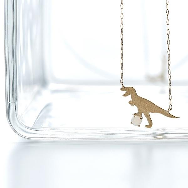K10 イエローゴールド オパール ティラノサウルス ネックレス/ブルーム(BLOOM)