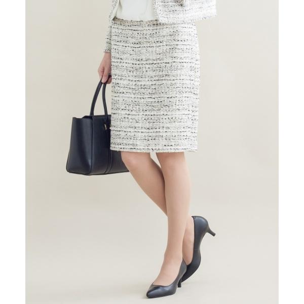 【セットアップ対応】CLARENSON ファンシーツイード スカート/23区 S(NIJYUSANKU S)