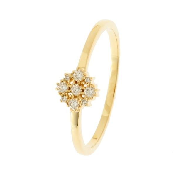 K18ダイヤモンド 爪留め透かし リング ココシュニック COCOSHNIK 販促ツールに♪お見舞 ホワイトデー お年賀 子どもの日 卒業祝