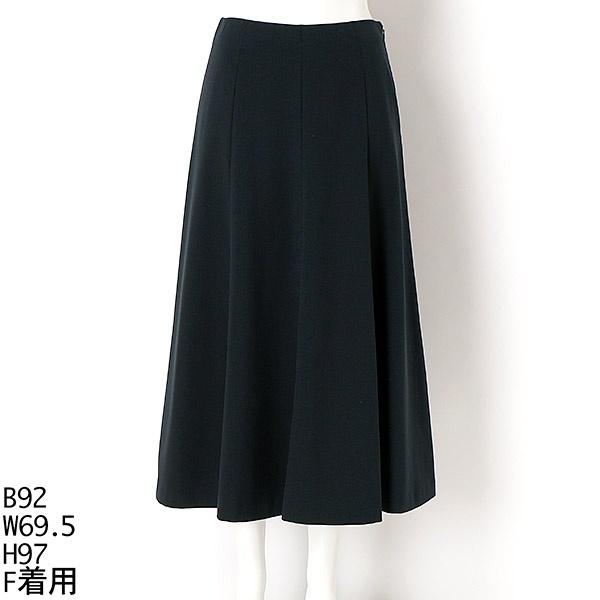 【大きいサイズ】8枚はぎ Aライン スカート/ラクープ(LACOUPE)