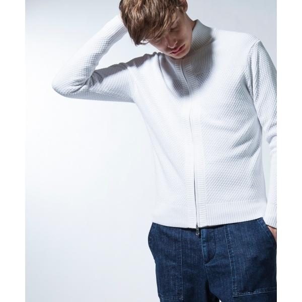 【店頭大人気】silk bulky  honeycomb ZIP-UP ニット / カーディガン/ジョゼフ オム(JOSEPH HOMME)