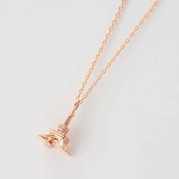 タワーモチーフネックレス[K10PG/ダイヤモンド]/東京ジュエリーインデックス(TOKYO JEWELRY INDEX)