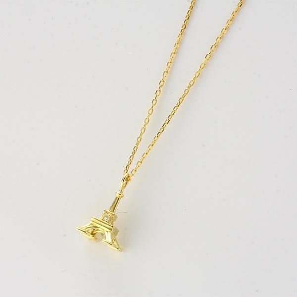 タワーモチーフネックレス[K10YG/ダイヤモンド]/東京ジュエリーインデックス(TOKYO JEWELRY INDEX)