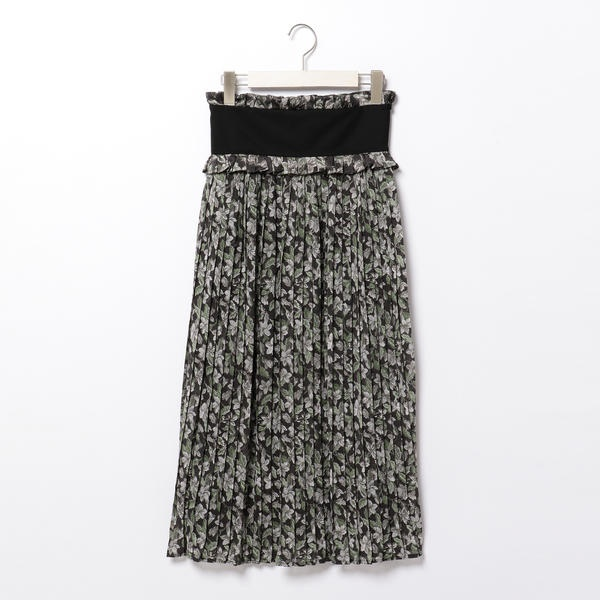 【CLANE】TAPESTRY FLOWER PLEATS SKIRT/ドロワットロートレアモン(Droite lautreamont)
