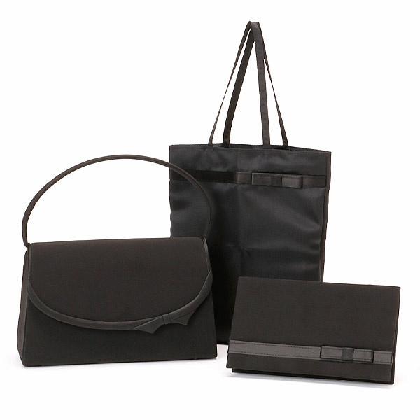 09bc9a841f71 お悔みの席でのブラックフォーマルスタイルに必要不可欠なバックと手提げ袋、袱紗の3点セットです。フォーマルブラックで統一されたデザインは、オフィシャルなシーン  ...