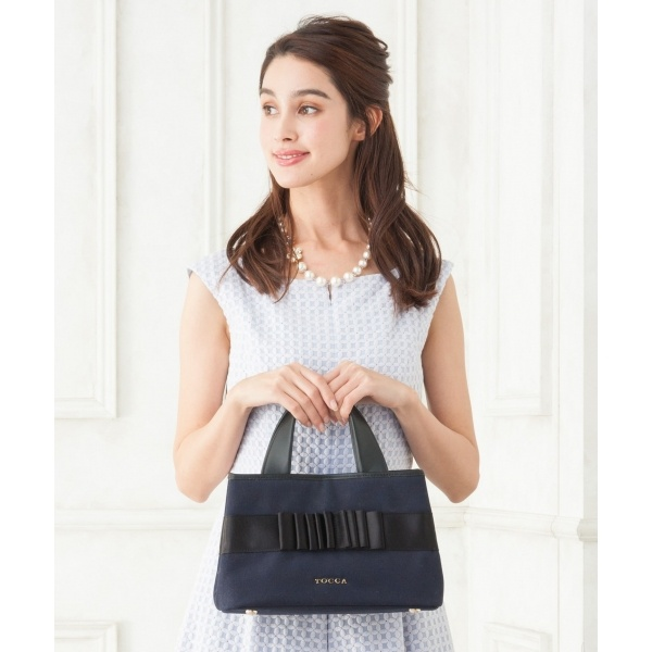 【WEB限定】DOUBLE BOW SMALL CANVAS トートバッグ/トッカ(TOCCA)