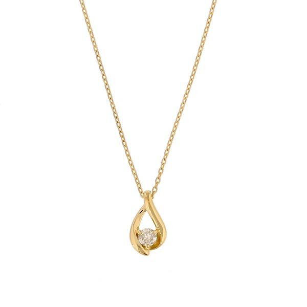 K18イエローゴールド ダイヤモンド しずくモチーフ ネックレス/エステール(ESTELLE)