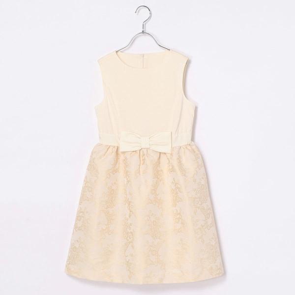 【ジュニアサイズ】フラワージャガードドレス/コムサフィユ(COMME CA FILLE)