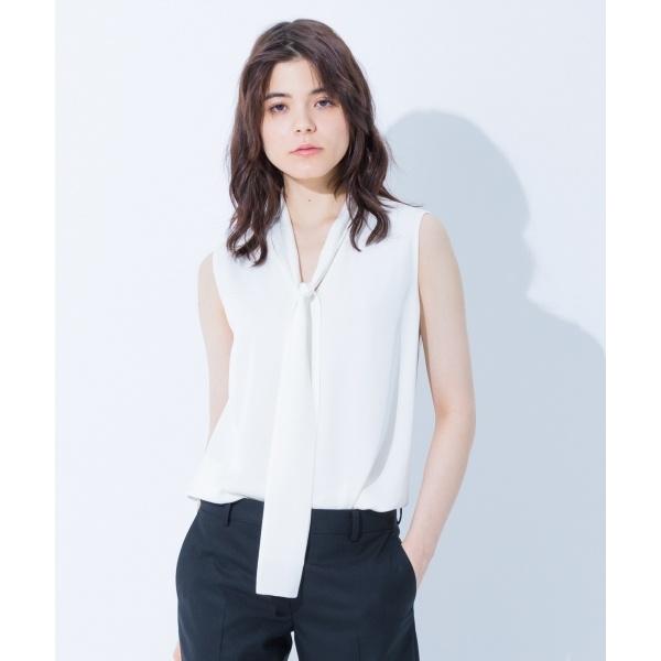 【2018SS】シルクストレッチジョーゼットノースリーブ ブラウス/カルバン・クライン ウィメン(Calvin Klein women)