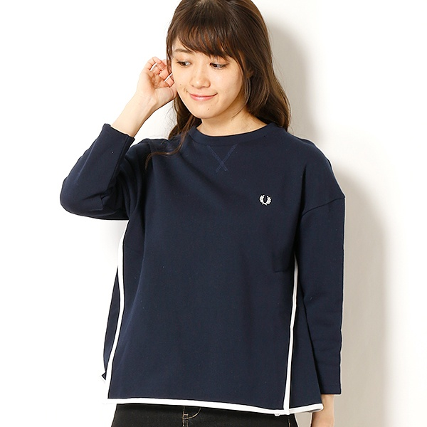 【18SS】CREW NECK SWEAT SHIRT/フレッドペリー(レディス)(FRED PERRY)