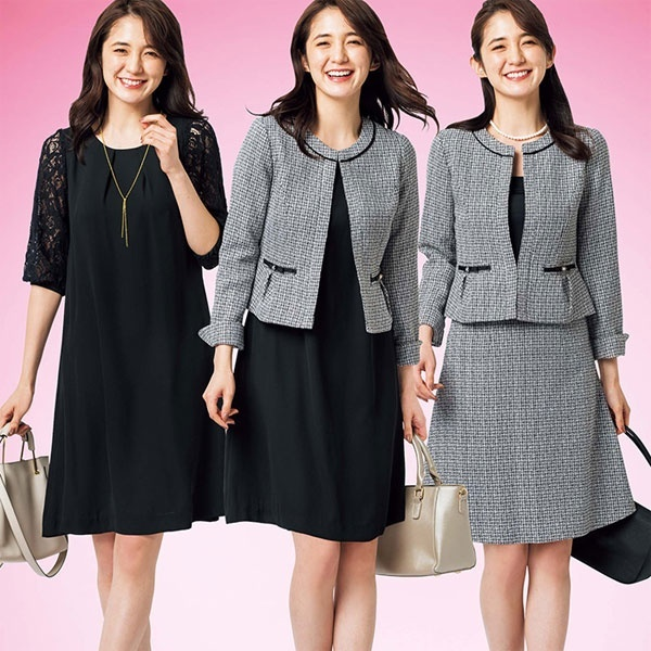 【入学式・卒業式・フォーマル対応】ツイード3点セットスーツ/リュリュ(RyuRyu)