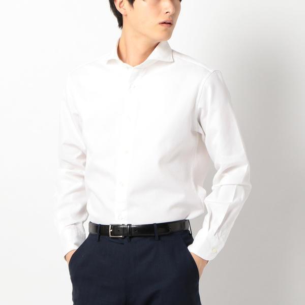 SD: ウォッシュド ワッフル ホリゾンタルカラーシャツ(ホワイト)/シップス(メンズ)(SHIPS)