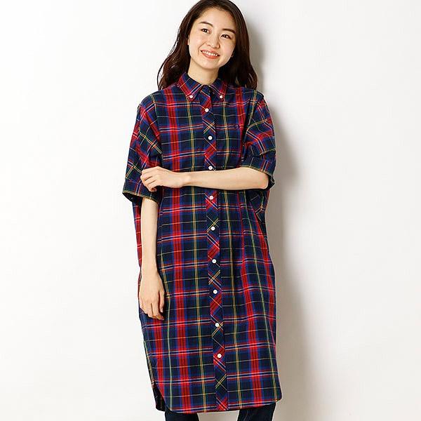 【18SS】TARTAN SHIRT DRESS/フレッドペリー(レディス)(FRED PERRY)