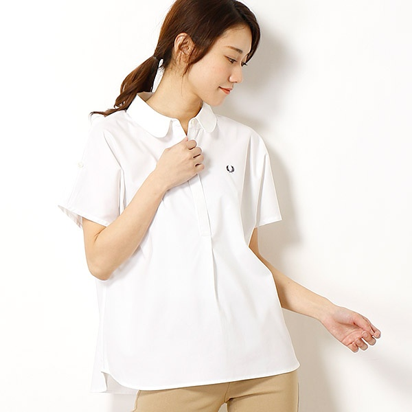 【18SS】SHORT SLEEVE WOVEN SHIRT/フレッドペリー(レディス)(FRED PERRY)