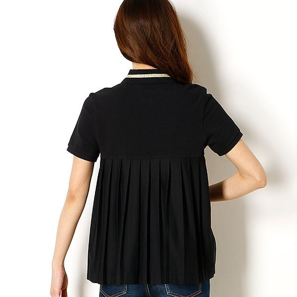 58b7cffda49b フレッドペリー(レディス) フレッドペリーシャツをベースにデザインされたシャツは定番ポロと同じ綿鹿の子を身生地に、ゴールドの金属糸を衿のティッピングに使用し  ...