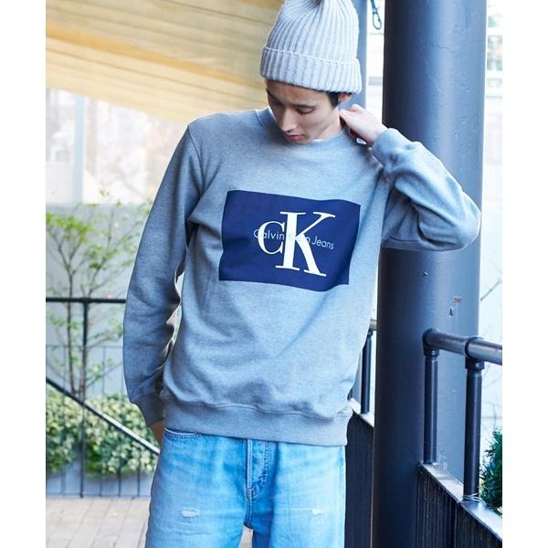 【CALVIN KLEIN JEANS】ボックスロゴ ロングスリーブTシャツ/カルバン・クライン(CALVIN KLEIN)