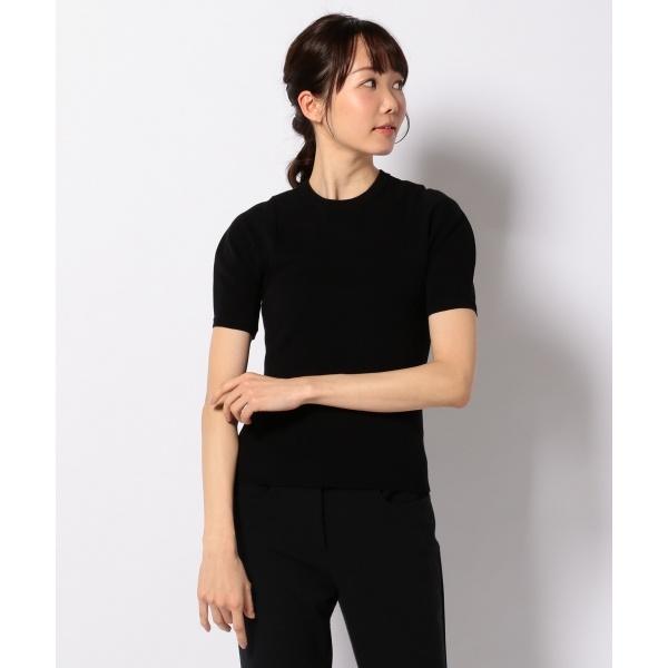 【2018SS】ピュアハイツイストコットン半袖 ニット/カルバン・クライン ウィメン(Calvin Klein women)