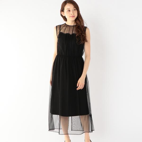 little black:ソリッドチュールレイヤードワンピース/シップス(レディース)(SHIPS for women)
