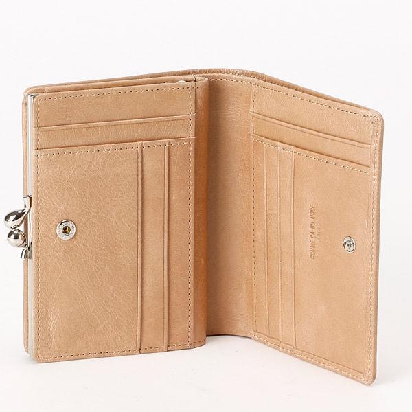 8cf49fe9a40e コムサデモードサックの二つ折り財布手触りの良い革にスタッズを付けたシリーズ。 [型番:74473] □カラー:5色展開