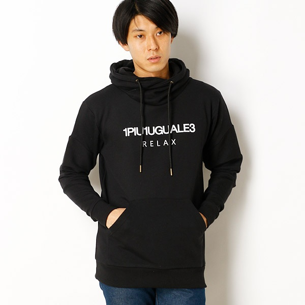 【1piu1uguale3 RELAX】Relaxed Fit Biker Hooded Sweat/アドポーション(ADOPOSION)